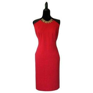 3/$30 Liz Claiborne Red Faux Leather Sheath Dress